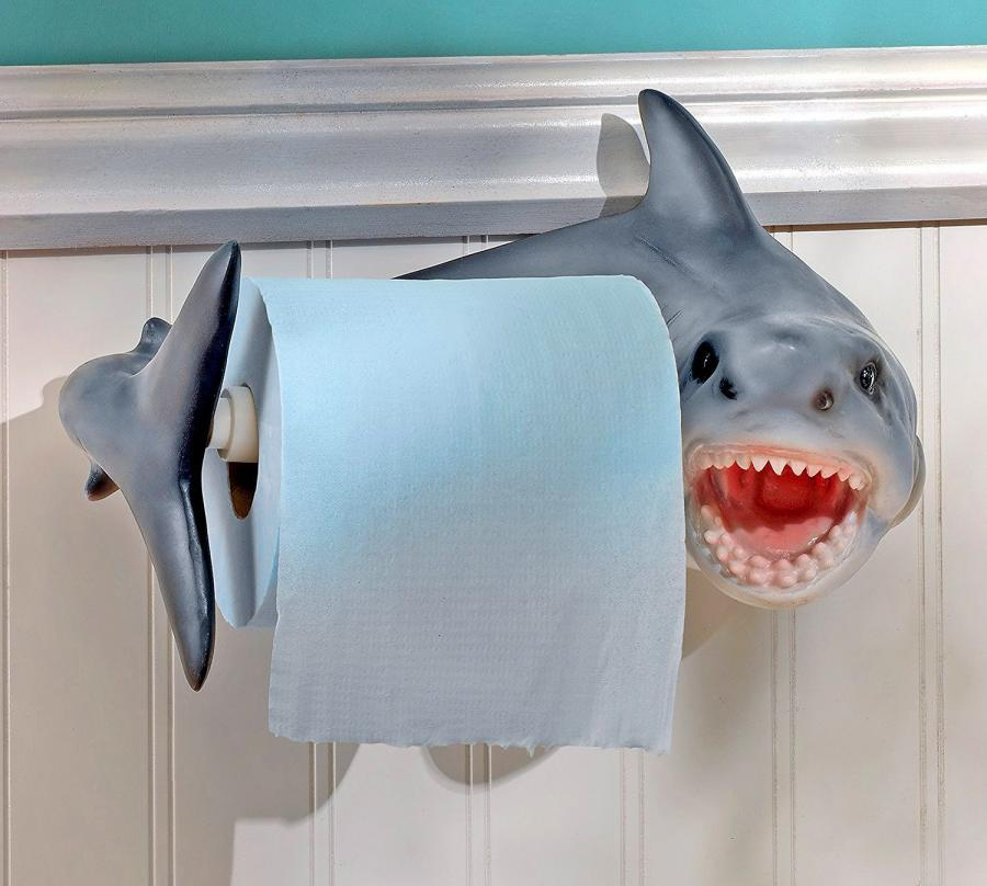 Shark Bite Toilet Paper Holder