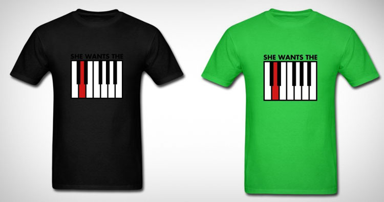 She Wants The D Piano T-Shirt