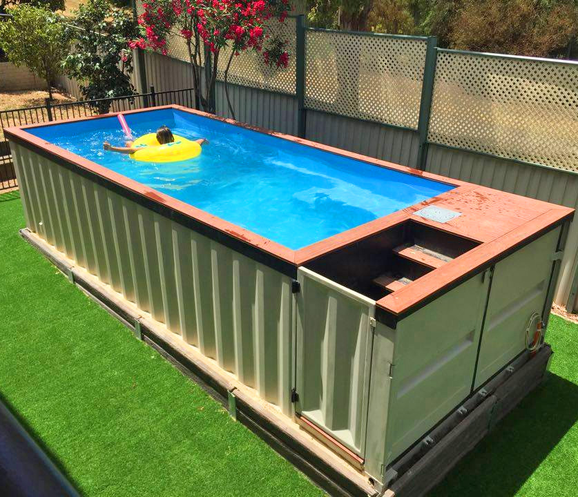 shipping container pools. Black Bedroom Furniture Sets. Home Design Ideas