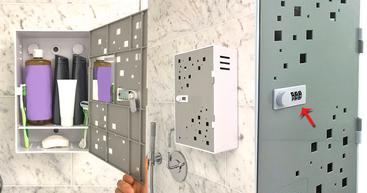 Shlocker Lockable Shower Box Keeps Roommates From Stealing Shampoo