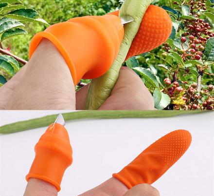 This Silicone Thumb Knife Is  a Super Clever Tool For Gardening and Pruning