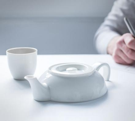 Tea For One: Sinking Into Table Half Teapot