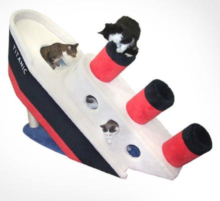 Sinking Titanic Ship Cat Playground