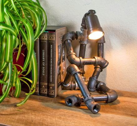This Sitting Pipe Robot Lamp Makes an Amazing Industrial Design Piece For Your Home