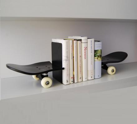 Skateboard Book Ends