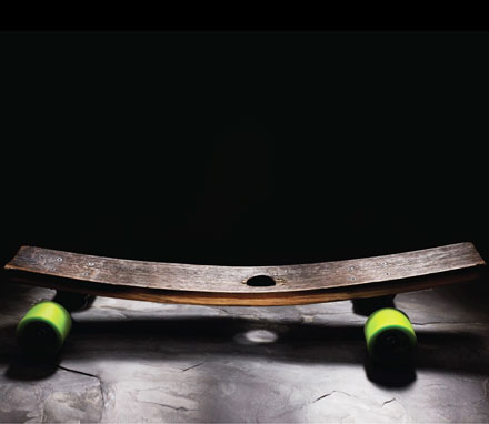 Skateboard Made From Bourbon Barrel Wood