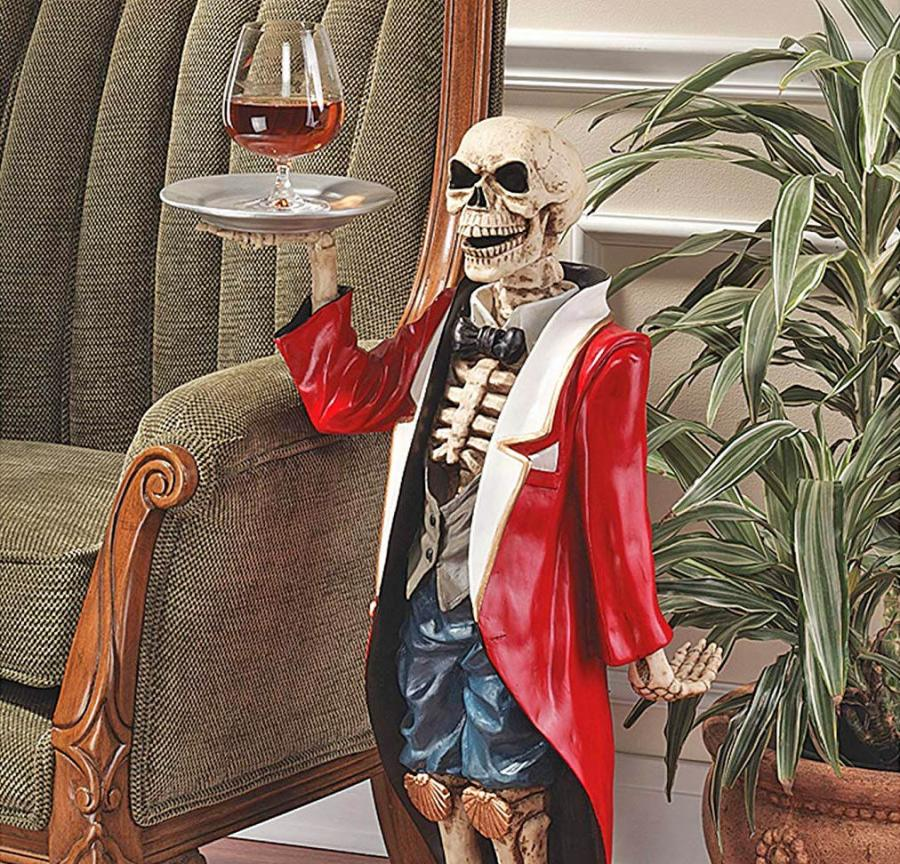 ... Halloween Decor That Will Turn Your Home Into The Classy, Yet  Terrifying Place Youu0027ve Always Wanted? This Skeleton Butler Side Table  Might Do The Trick.