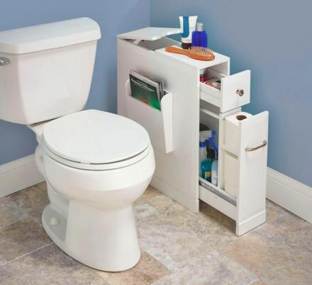 Skinny Bathroom Organizer For Small Bathrooms