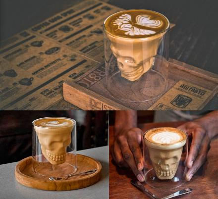 These Skull Shaped Drinking Glasses Will Make For The Ultimate Halloween Cocktail