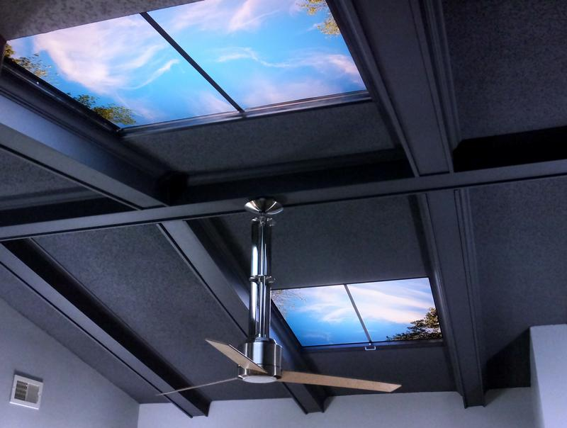 Fluorescent Light Covers >> Sky Panel Light Fixture Cover