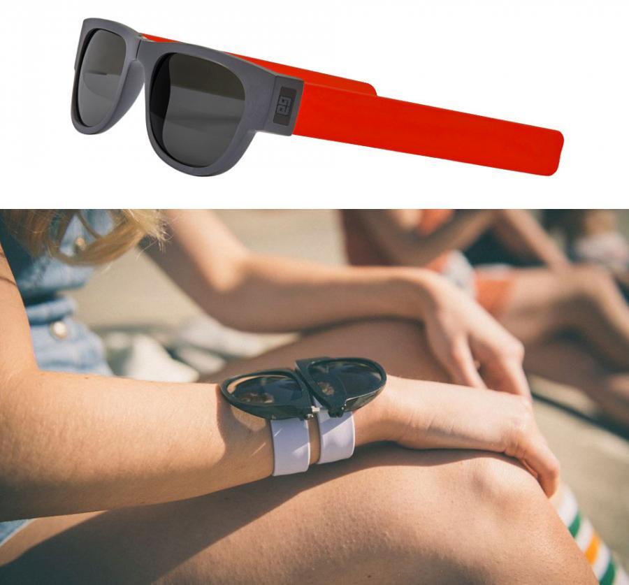 5b39083c88 Slapsee Sunglasses Slap Onto Your Wrist Like The 90s Slap Bracelets Enlarge  Image