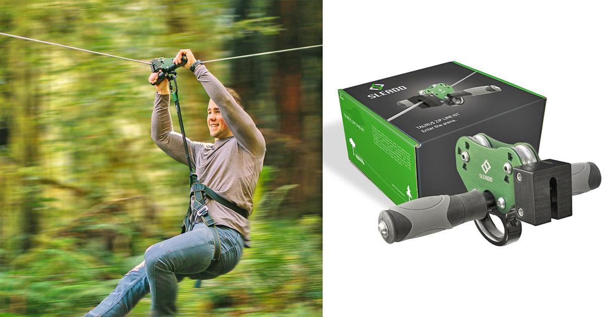 Sleadd Taurus DIY Backyard Zip Line Kit