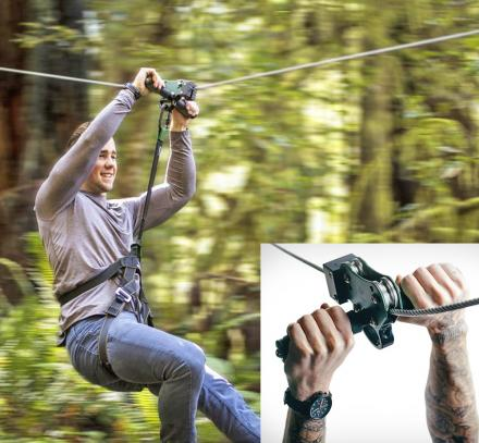 There's a DIY Kit On Amazon That Lets You Build Your Very Own Backyard Zip Line