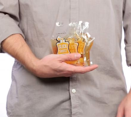 Slick Shotz: Sealable Plastic Flasks For Easy Alcohol Smuggling