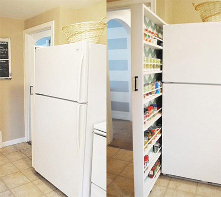 Super Thin Slide Out Pantry That Uses Just 6 Inches Of Space