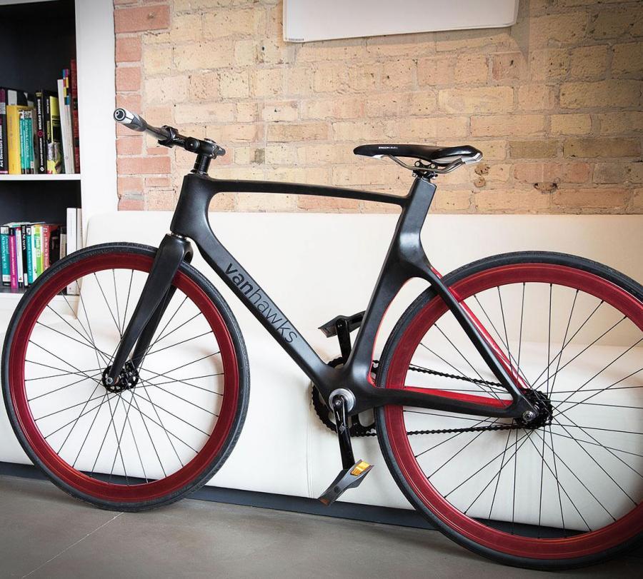 smart bike made from carbon fiber. Black Bedroom Furniture Sets. Home Design Ideas