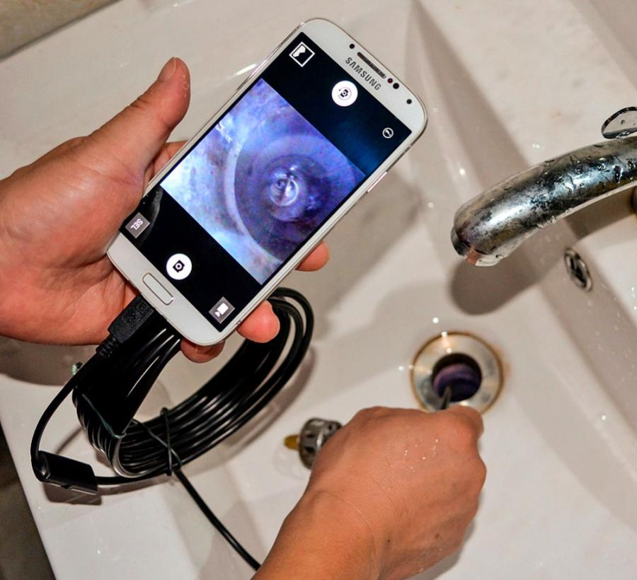 Smart Phone Endoscope Lets You See Down Drains And Inside