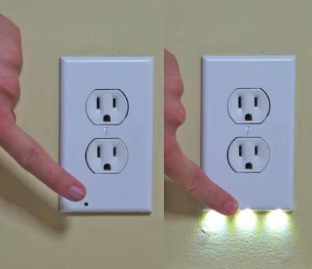 SnapPower Guidelight: Outlet Night-light That Turns On When It