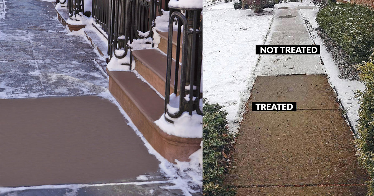 Snow and Ice Preemptive Treatment For Sidewalks and Driveways (Includes Sprayer)