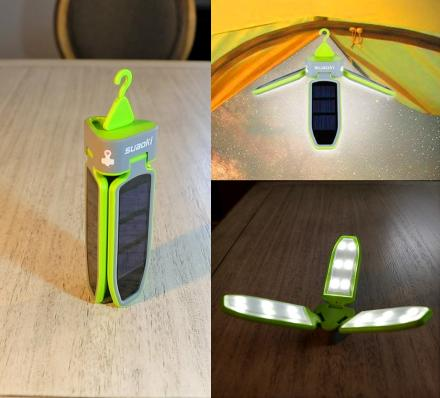 Solar Powered Collapsible Clover Camping Lantern