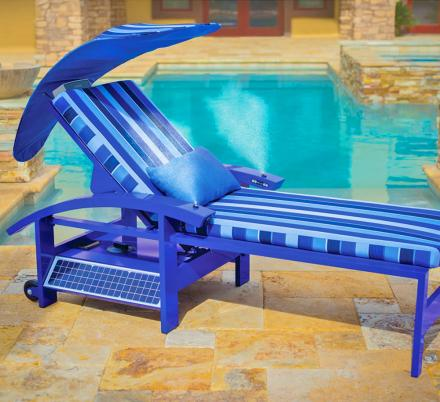Ultimate Solar Powered Smart Lounger With Built-In Speakers, Misters, ans USB Charging