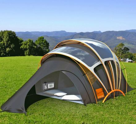 This Solar Tent Has Heated Floors, Wi-Fi, and It Illuminates at Night