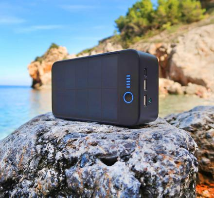 SolarBank 3-in-1 Solar Powered Charger and Speaker
