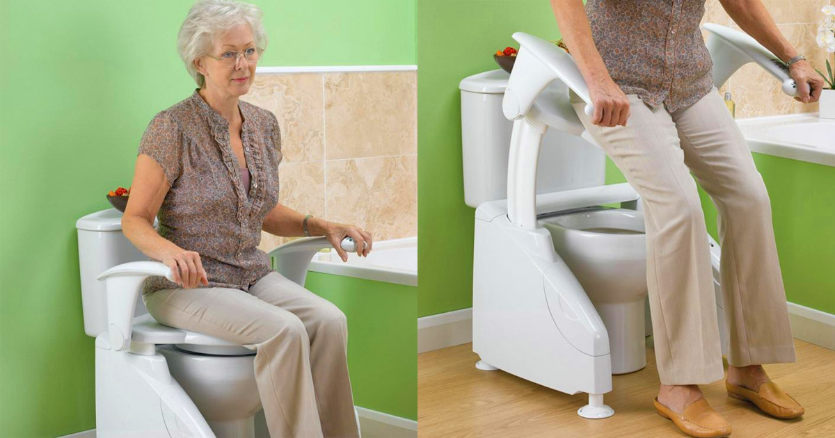 Solo Toilet Lift Helps Elderly On and Off Toilet