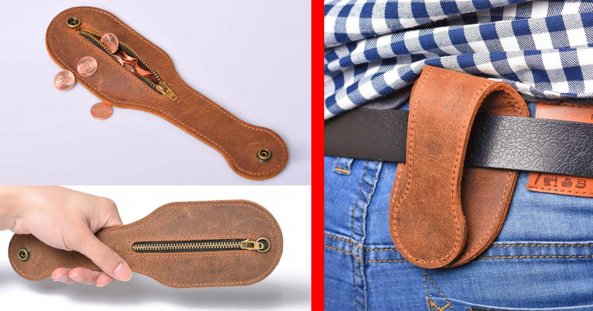 Someone Invented a Leather Coin Purse That Doubles as a Self-Defense Weapon
