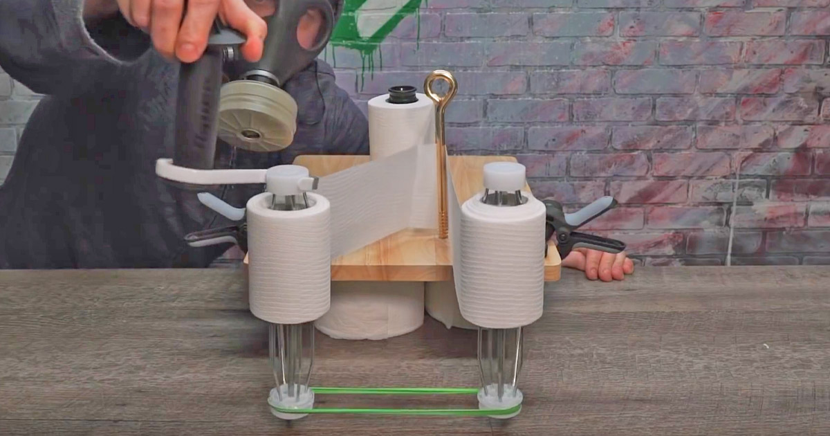 Someone Made a TP-Splitter Machine That Turns Your 2-Ply Toilet Paper Into Two Rolls