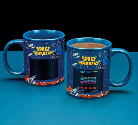 Space Invaders Heat Changing Mug Turns On Game With Hot Liquid