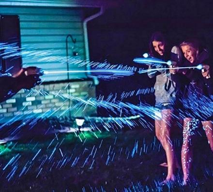 Spashlight is a Squirt Gun That Makes The Water Glow-in-the-Dark