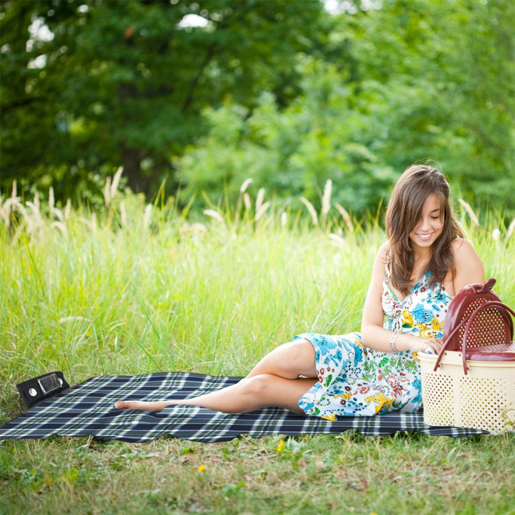 Picnic Blanket With Speaker