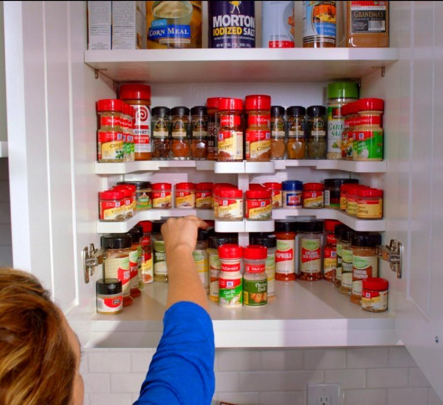 Spicy Shelf Helps Organize Spice Cabinets Medicine