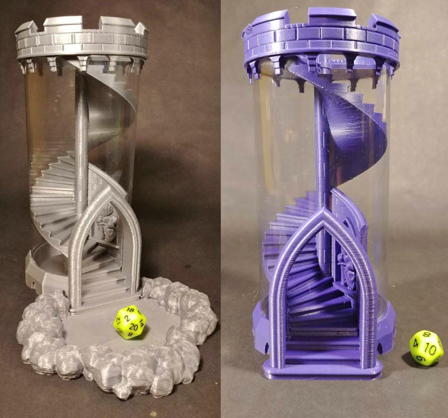 Spiral Staircase Dice Rolling Tower