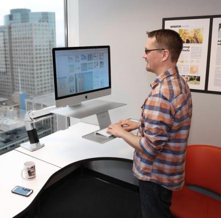 Stand Or Sit Ergonomic Workstation