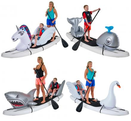 Stand-up Paddle-Board Floats Turn Your SUP Into a Unicorn, Shark, Whale, Swan