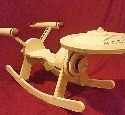 star trek enterprise child rocking horse. Black Bedroom Furniture Sets. Home Design Ideas