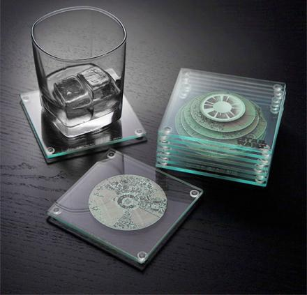 Layered 3D Death Star Coasters Form A Full Death Star When Stacked