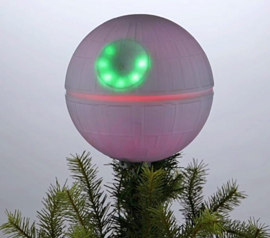 star wars death star christmas tree topper enlarge image - Christmas Tree Topper Star