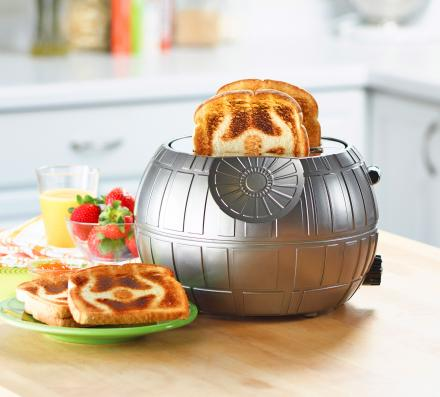 Star Wars Death Star Toaster - Toasts A Tie Fighter Onto Each Slice of Bread