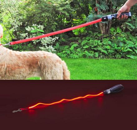 Star Wars Light-Up Lightsaber Dog Leash