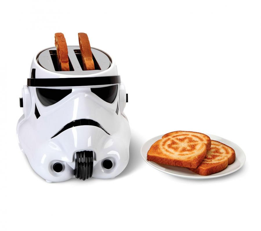 star wars stormtrooper toaster toasts galactic empire logo onto bread. Black Bedroom Furniture Sets. Home Design Ideas