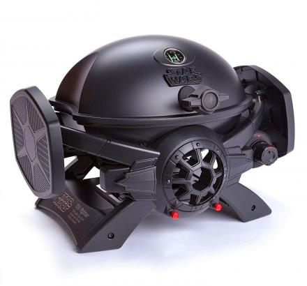 Star Wars TIE Fighter Gas BBQ, Grills The Star Wars Logo On Your Food