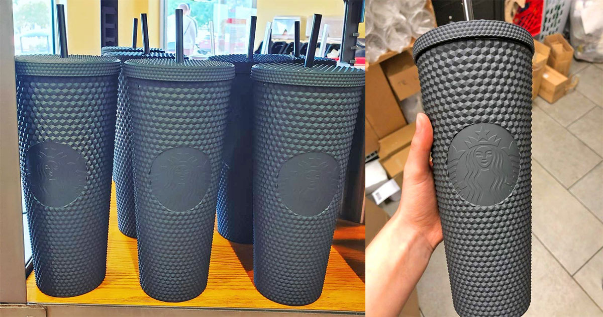 Starbucks Is Selling Matte Black Spiky Cups...Ugh, Yes Please!