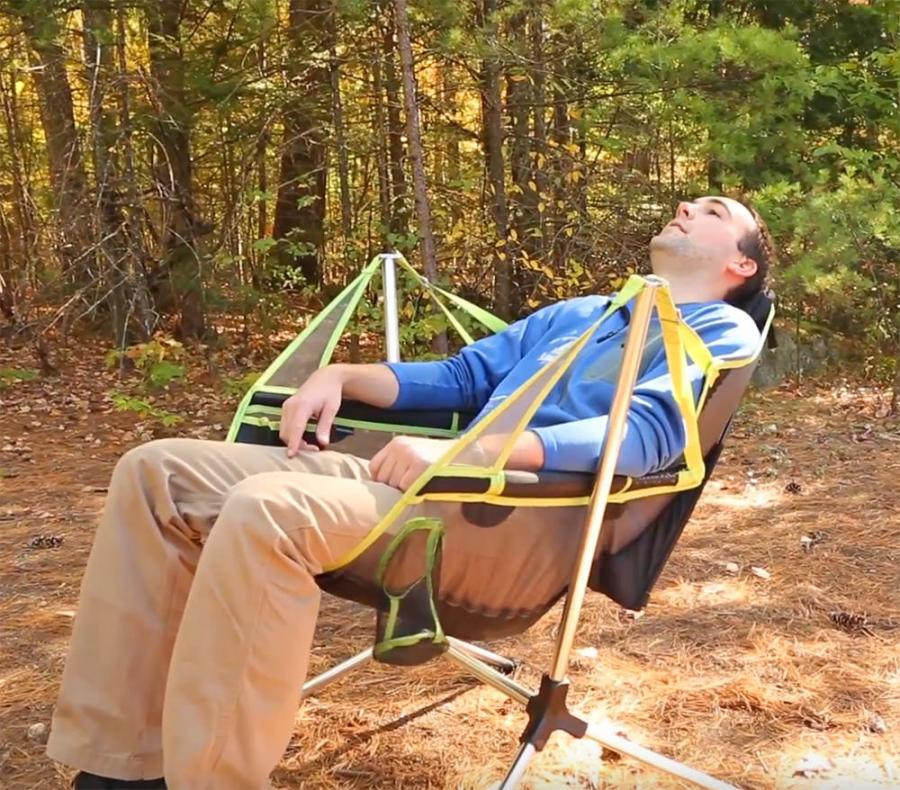 Excellent This Stargaze Recliner Is A Swinging Camping Chair That Also Reclines Dailytribune Chair Design For Home Dailytribuneorg