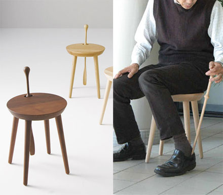 Step Step: A Stool With A Shoehorn In It