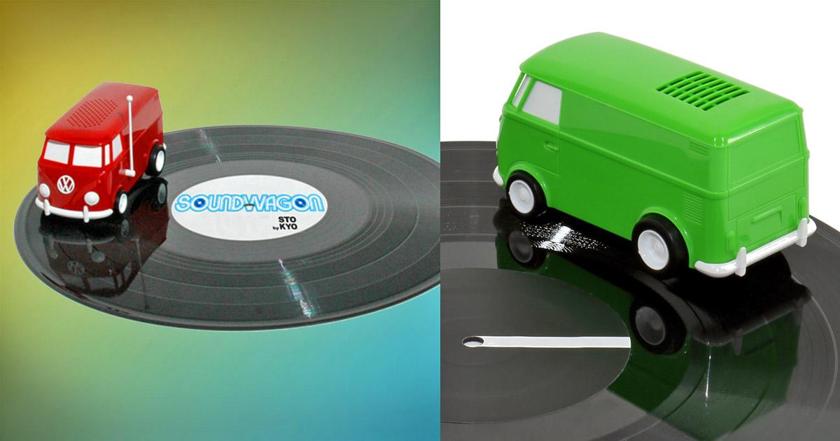 Stokyo Soundwagon Portable Record Player Hippy Van Spins