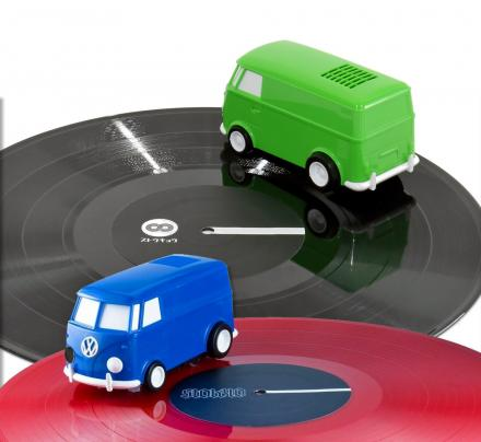 Soundwagon Record Runner Portable Record Player Hippy Van Spins Around Your Vinyls