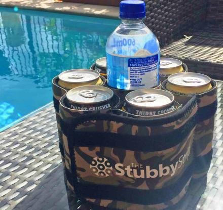 Stubby Strip: Lets You Carry 7 Drinks With 1 Hand